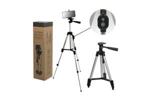 Штатив для  видеокамер, фотоапаратов и смартфонов 3888 (пульт Bluetooth/надёжная конструкция)
