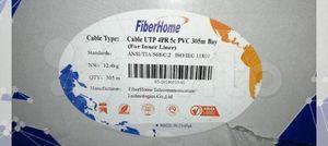 Кабель FiberHome UTP 4PR 5e оболочка PVC медь 4х2х0,50 (внутренний)