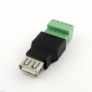 Разъем USB(female) с клеммной колодкой
