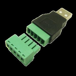 Разъем USB(male) с клеммной колодкой
