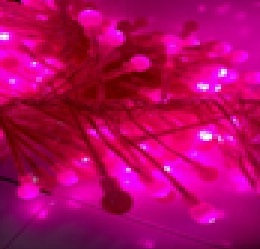 Гирлянда мишура SPL-320Р, 320шт светод.ламп, 3м, контроллер, темно-роз.