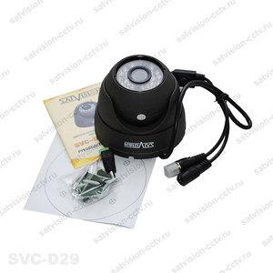 SVC-D29, 1 Mpix, 2,8мм., антивандальная всепогодная видеокамера.